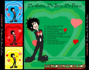 Back cover CureConnections Valentine CD compilation 2012
